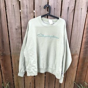 Champion Men's Spell-out Crewneck Sweater